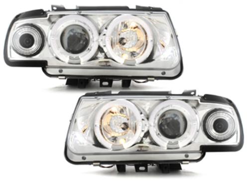 faros VW Polo 6N 95-98_2 anillos luz de posición_cromado