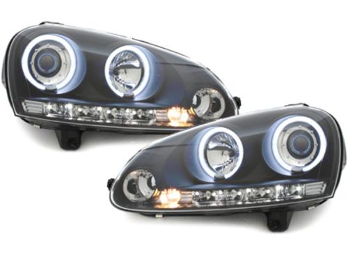 faros VW Golf V 03-09_2 anillos luz de posición CCFL_negro