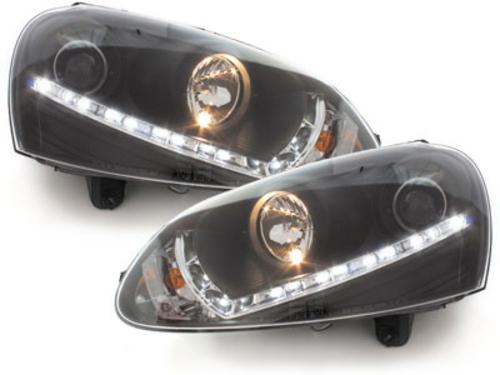 faros DECTANE VW Golf V 03-09_óptica de luz diurna_negro