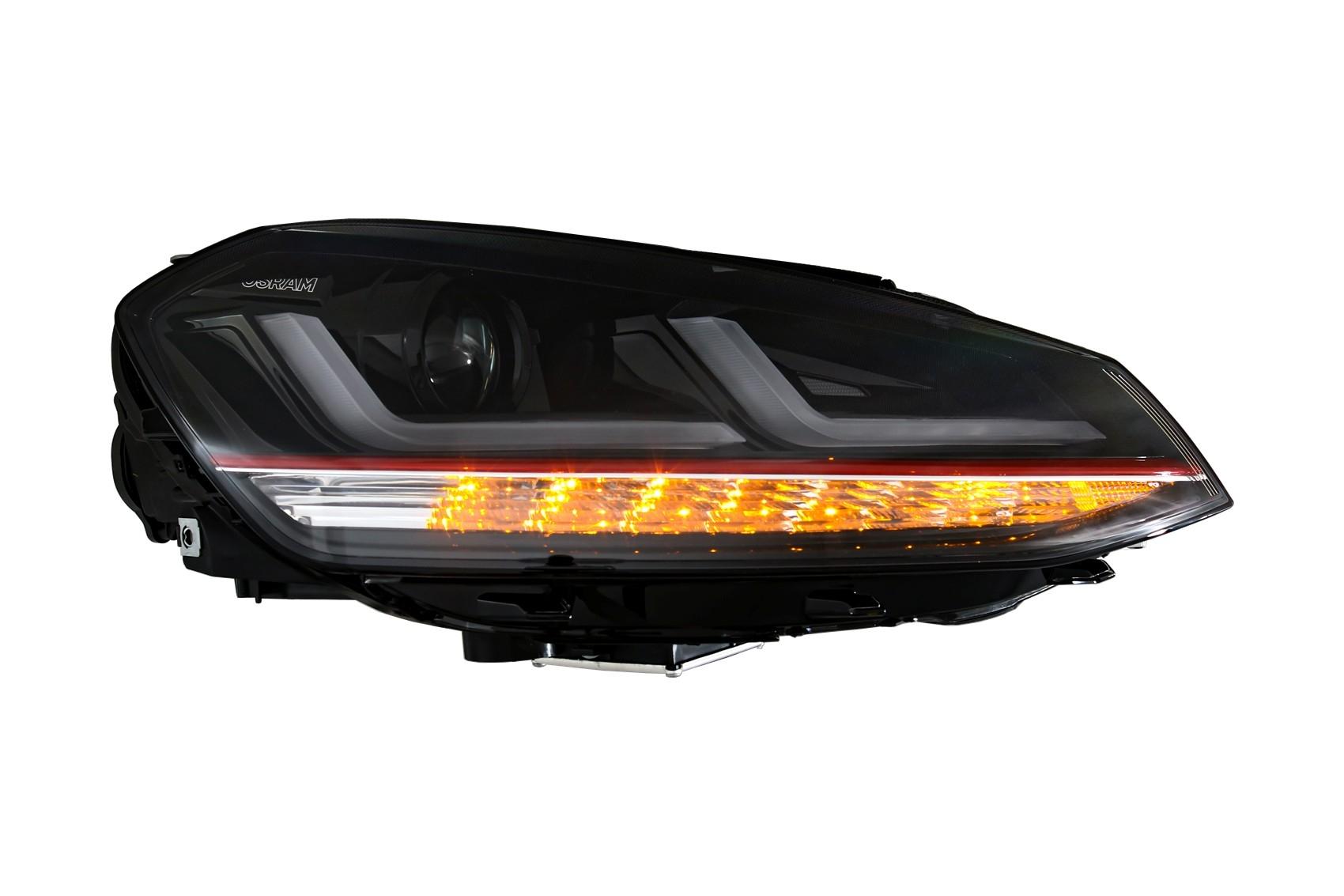 osram full led phares pour vw golf 7 vii 12 17 rouge gti. Black Bedroom Furniture Sets. Home Design Ideas