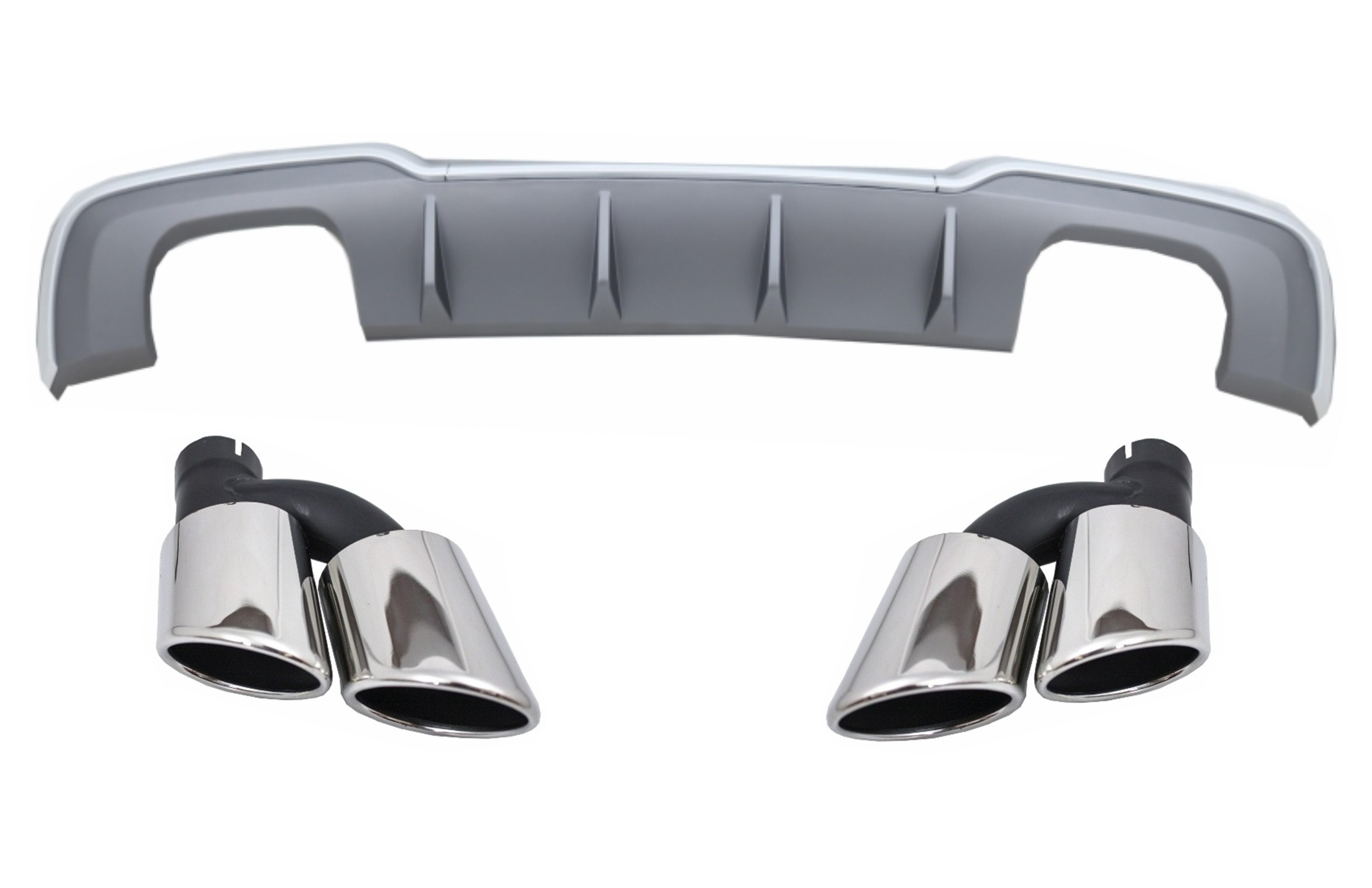 Details about Bumper Diffuser for Audi A3 8V Muffler Tips 16-19 S-Line  Hatchback Sportback S3