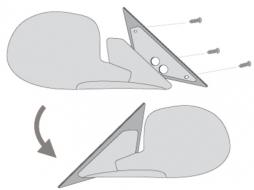 Adaptoare oglinzi compatibil cu PEUGEOT 407 04+- - A347