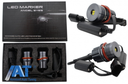 Angel Eyes Led Marker compatibil cu BMW E39 E60 E81 E87 E63 E64 E65 E66 X5 E53 X3 E83  40W Alb - LEDBME39