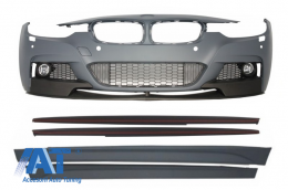 Ansamblu Bara Fata cu Praguri Latereale BMW Seria 3 F30 F31 Sedan Touring (2011-up) M-Performance  - COFBBMF30MPSS