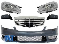 Ansamblu Complet Anterior compatibil cu Mercedes W221 S-Class (2005-2009) S63 S65 Design - COFBMBW221AMG