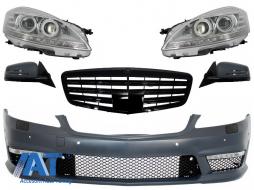 Ansamblu Complet Anterior compatibil cu Mercedes W221 S-Class S63 S65 Design (2005-2009) - COFBMBW221AMGBG