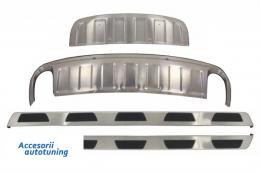 Ansamblu Prelungiri Off Road cu Preguri Laterale compatibil cu AUDI Q7 Facelift (2010-2015) - COSPA01