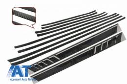 Bandouri Laterale Carbon cu Stickere Laterale Negru Mat compatibil cu MERCEDES G-Class W463 (1989-2018) - CODMMBW463AMGCMB
