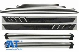 Bandouri Laterale Carbon cu Stickere Laterale Negru Mat si Praguri Laterale compatibil cu MERCEDES G-Class W463 (1989-2018) - COCBMBW463AMGCMBRB
