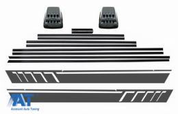 Bandouri Laterale compatibil cu MERCEDES G-Class W463 (1989-2017) cu Stickere Laterale si Lampi Semnalizare LED - CODMMBW463AMGBLED