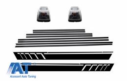 Bandouri Laterale cu Stickere Laterale Negru Mat si Lampi Semnalizare compatibil cu MERCEDES G-Class W463 (1989-2015) - CODMMBW463AMGSMBB