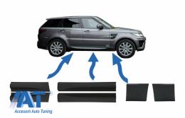 Bandouri Usi Fata si Spate & Bandouri Aripi Fata compatibil cu Land Rover Sport L494 (2013-up) Negru - COLBR14032