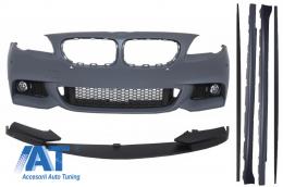 Bara Fata BMW Seria 5 F10 (2011-2014) cu Extensie Bara Si Praguri Laterale M-Performance Design - COFBBMF10MTPDCSS