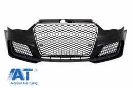 Bara Fata compatibil cu AUDI A3 8V (2012-2015) 5D Hatchback Sportback RS3 Look Crom Black - FBAUA38VRSTH
