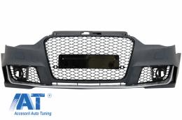 Bara Fata compatibil cu AUDI A3 8V (2012-2015) Sedan / Saloon / Convertible RS3 Brilliant Black Design - FBAUA38VRS