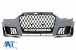 Bara Fata compatibil cu Audi A3 8V (2012-2015) Hatchback Sportback RS3 Design Brilliant Black - FBAUA38VRSD