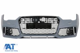 Bara Fata compatibil cu AUDI A7 4G Facelift (2015-2018) RS7 Design cu Grile - FBAUA74GFRSWOG