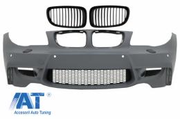 Bara Fata compatibil cu BMW Seria 1 E81 E82 E87 E88 (2004-2011) 1M Design Tuburi Ventilatie Incluse - FBBME87M1WOG