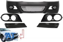 Bara fata compatibil cu BMW Seria 3 E46 (98-04) M3 Look cu ornamente proiectoare si Prelungiri Carbon CSL Design