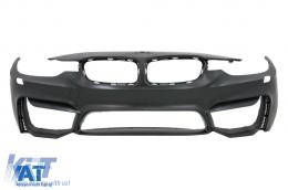 Bara Fata compatibil cu BMW Seria 3 F30 F31 (2011-up) M3 Design cu Proiectoare si Grila Centrala Piano Black M Design