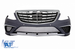 Bara Fata compatibil cu MERCEDES Benz W222 S-Class (2013-up) S63 A-Design cu Grlia Centrala Crom