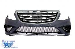 Bara Fata compatibil cu MERCEDES Benz W222 S-Class (2013-up) S63 A-Design cu Grila Centrala Crom
