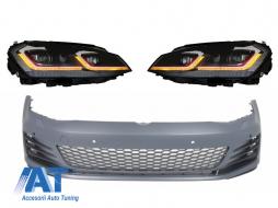 Bara Fata  compatibil cu VW Golf VII 7 5G (2013-2017) cu Faruri LED Facelift G7.5 GTI Look cu Semnal Dinamic
