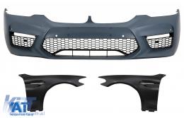 Bara Fata cu Aripi Laterale Crom compatibil cu BMW Seria 5 G30 (2017-up) M5 Sport Design - COFBBMG30M5FFC