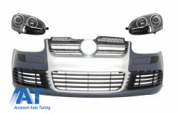 Bara Fata cu Faruri compatibil cu VW Golf V 5 (2003-2007) Jetta (2005-2010) R32 R32 Aluminiu Look
