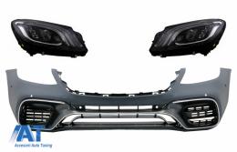 Bara Fata cu Faruri Full LED ompatibil cu MERCEDES S-Class W222 Facelift (2013-06.2017) S63 Design - COFBMBW222AMGS63FHLFL