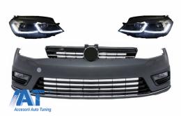 Bara Fata cu Faruri LED cu Semnal Dinamic compatibil cu VW Golf VII 7 (2013-2017) R-Line Look - COFBVWG7RLHLFSRHD