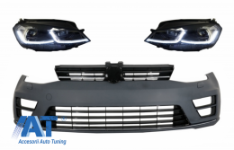 Bara Fata cu Faruri LED Semnal Dinamic compatibil cu Volkswagen Golf VII 7 2013-2017 R-Line Look