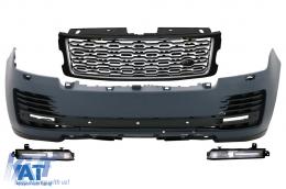 Bara Fata cu Grila Centrala compatibil cu Land Range Rover Vogue SUV IV L405 (2018-2020) SVA Design - FBRRVL405SVA