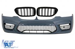 Bara Fata cu Grile Centrale compatibil cu BMW Seria 5 G30 (2017-up) M5 Sport Design - COFBBMG30M5DPB