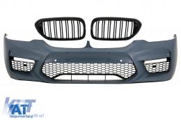 Bara Fata cu Grile Centrale Duble compatibil cu BMW Seria 5 G30 (2017-up) M5 Sport Design - COFBBMG30M5DPB2