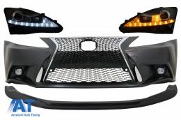 Bara Fata cu Lip Prelungire Lexus IS XE20 (2006-2013) IS F Sport Facelift Design si Faruri LED DRL Negru