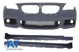 Bara Fata cu Praguri compatibil cu BMW Seria 5 F10 (2011-2014) M-Technik Design fara Proiectoare Ceata - COCBFBBMF10MTPDCWF