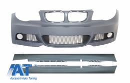 Bara Fata cu Praguri Laterale compatibil cu BMW Seria 1 E87 (2009-2012) M-Technik M-tech Design - COFBBME87MTSS