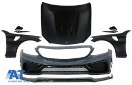 Bara fata cu Prelungire si Capota & Aripi Laterale compatibila cu Mercedes C-Class W205 S205 C205 A205 (2014-2019) GT Design - COCBMBW205FFGT
