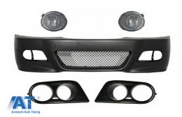 Bara fata cu Proiectoarea de Ceata si Rame compatibil cu BMW Seria 3 E46 (98-04) M3 Look