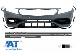 Bara Fata cu Stickere Laterale Gri Inchis Mercedes Benz A-Class W176 2012-2018 A45 AMG Design