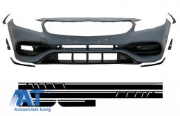Bara Fata cu Stickere Laterale Negru Mat compatibil cu Mercedes A-Class W176 (2012-2018) A45 Design