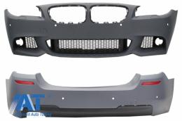 Bara Fata fara Proiectoare Ceata cu Bara Spate compatibil cu BMW Seria 5 F10 (2011+) M-Technik Design - COCBBMF10MTPDCWF