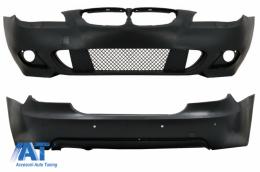 Bara Fata fara proiectoare si Bara Spate compatibil cu BMW Seria 5 E60 2003-2007 M-Technik Design - CORBBME60MTPDC24WF