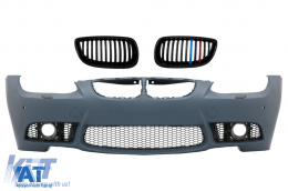 Bara Fata Grile Centrale compatibil cu BMW Seria 3 E92/E93 2006-2009 M3 Design Cu PDC, Fara Proiectoare - COFBBME92M3PWFFGC