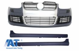 Bara Fata Praguri Laterale compatibil cu VW Golf V 5 (2003-2007) R32 Aluminiu Look - COFBVWG5R32AGTI