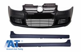 Bara Fata Praguri Laterale Volkswagen compatibil cu VW Golf V 5 (2003-2007) R32 Black Look - COFBVWG5R32B