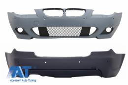 Bara Fata si Bara Spate cu PDC 18mm compatibil cu BMW Seria 5 E60 07-10 LCI M-Technik Design - COCBBME60MTP18WFTH
