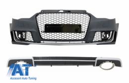 Bara Fata si Difuzor Bara Spate compatibil cu AUDI A3 8V (2012-2015) Sedan / Cabrio RS3 SE Standard - COCBAUA38VRSRD