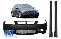 Bara Fata si Praguri laterale compatibil cu BMW Seria 3 E90 Sedan E91 Touring (2004-2008) (Non LCI) M3 Design fara Proiectoare - COFBBME90M3WFSS